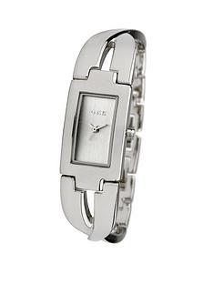oasis-silver-tone-twist-half-bangle-diamond-dial-ladies-watch