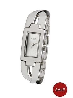 oasis-silver-tone-twist-half-bangle-diamond-dial-ladies-watch