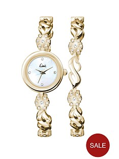 limit-gold-tone-stone-set-ladies-watch-and-matching-bracelet-gift-set