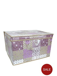 vintage-printed-patchwork-storage-box