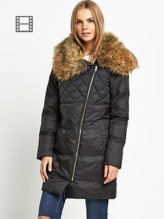 love-label-shawl-collar-padded-coat