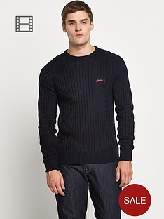 slazenger-crew-neck-cable-jumper