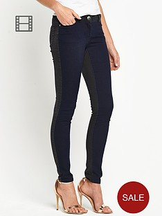 love-label-2-tone-panel-skinny-jean
