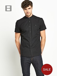 goodsouls-mens-short-sleeve-grandad-collar-shirt