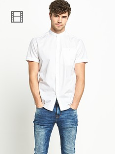 goodsouls-mens-short-sleeve-grandad-collar-shirt