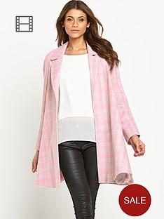 love-label-check-swing-coat