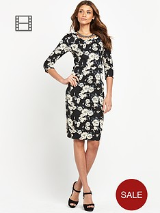 vero-moda-cappuccino-flower-midi-dress