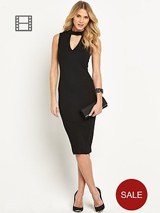 ax-paris-cut-out-midi-dress