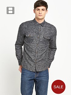 bellfield-mens-brushed-herringbone-shirt