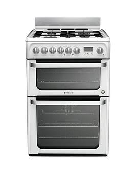 Hotpoint Hud61Ps 60Cm Dual Fuel Cooker  White