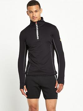 superdry-sport-runner-zip-henley-top-black