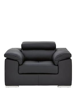 Very Brady 100% Premium Leather Armchair Picture