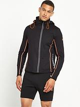 Runner Panel Zip Hoodie - Black