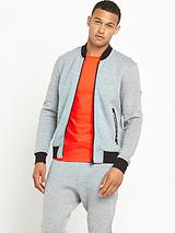 Tech Bomber Jacket - Grey Grit