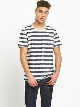 minimum-embroidered-stripe-tshirt