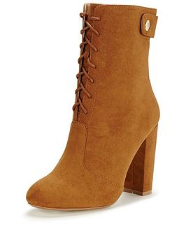 v-by-very-turner-military-lace-up-front-gold-zip-high-leg-ankle-boots-brown