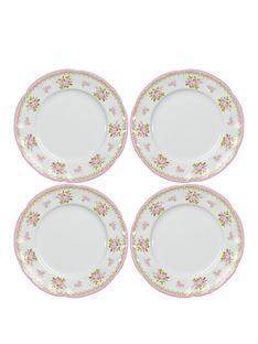 vintage-rose-4pc-tea-plates