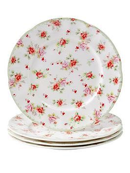 red-rose-4pc-tea-plates