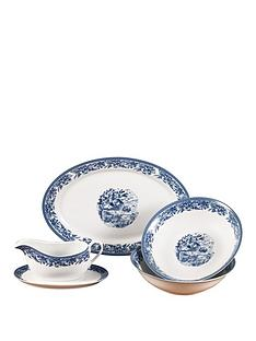 country-blue-5pc-serving-set