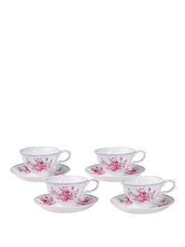 country-rose-4-cup-and-saucer-set
