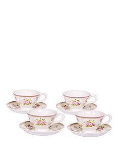 vintage-rose-4-cup-and-saucer-set