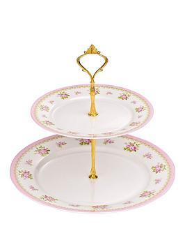 vintage-rose-cake-stand
