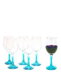 blue-stem-wine-glasses-6pc