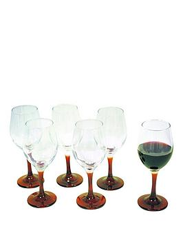 set-of-6-red-stem-wine-glasses