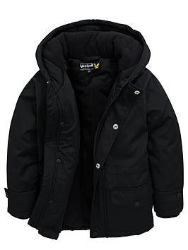 Lyle & Scott Padded Hooded Longline Coat