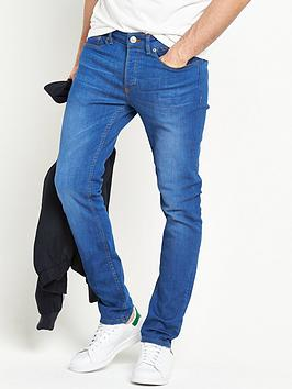 river-island-bright-blue-skinny-fit-stretch-jeans
