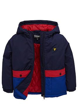 Lyle & Scott Hooded Colourblock Coat
