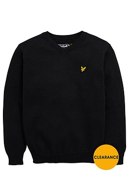 lyle-scott-boys-v-neck-knitted-jumper
