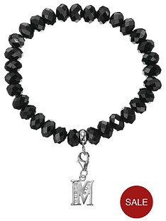 love-silver-sterling-silver-initial-charm-black-beaded-bracelet