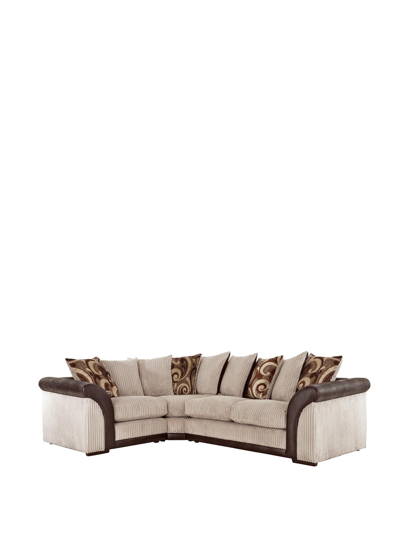 Chicago Left Hand Corner Group with Sofa Bed BlackChocolate