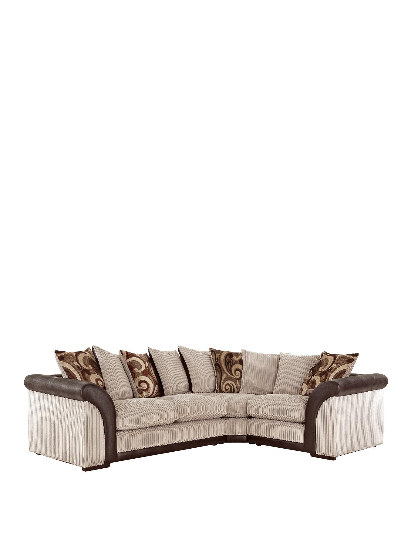 Chicago Right Hand Corner Group with Sofa Bed BlackChocolate