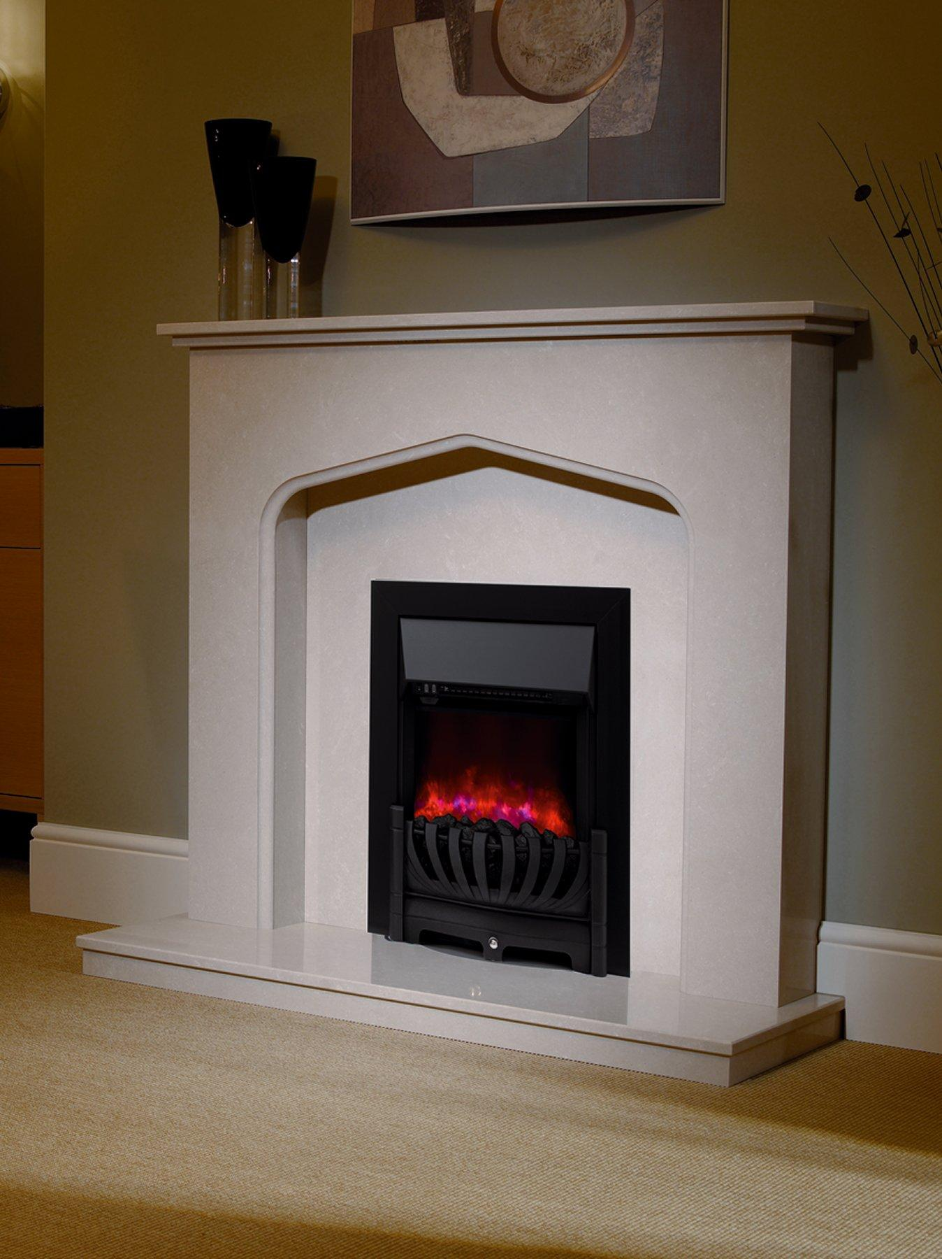 Micro Marble Electric Fire Suite
