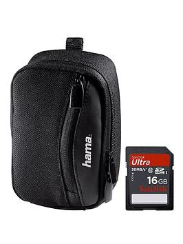 hama-olbia-bag-for-superzoom-camera-with-sandisk-16gb-memory-card