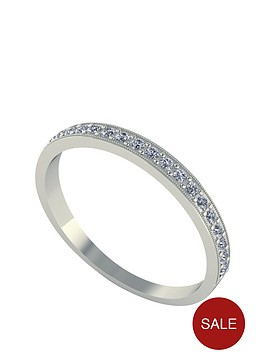 moissanite-18-carat-white-gold-25pt-wedding-band
