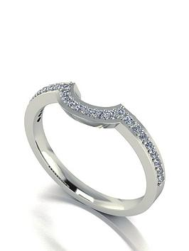moissanite-9-carat-white-gold-25-point-wedding-band