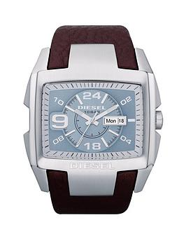 diesel-megatron-blue-dial-mens-watch-with-brown-strap