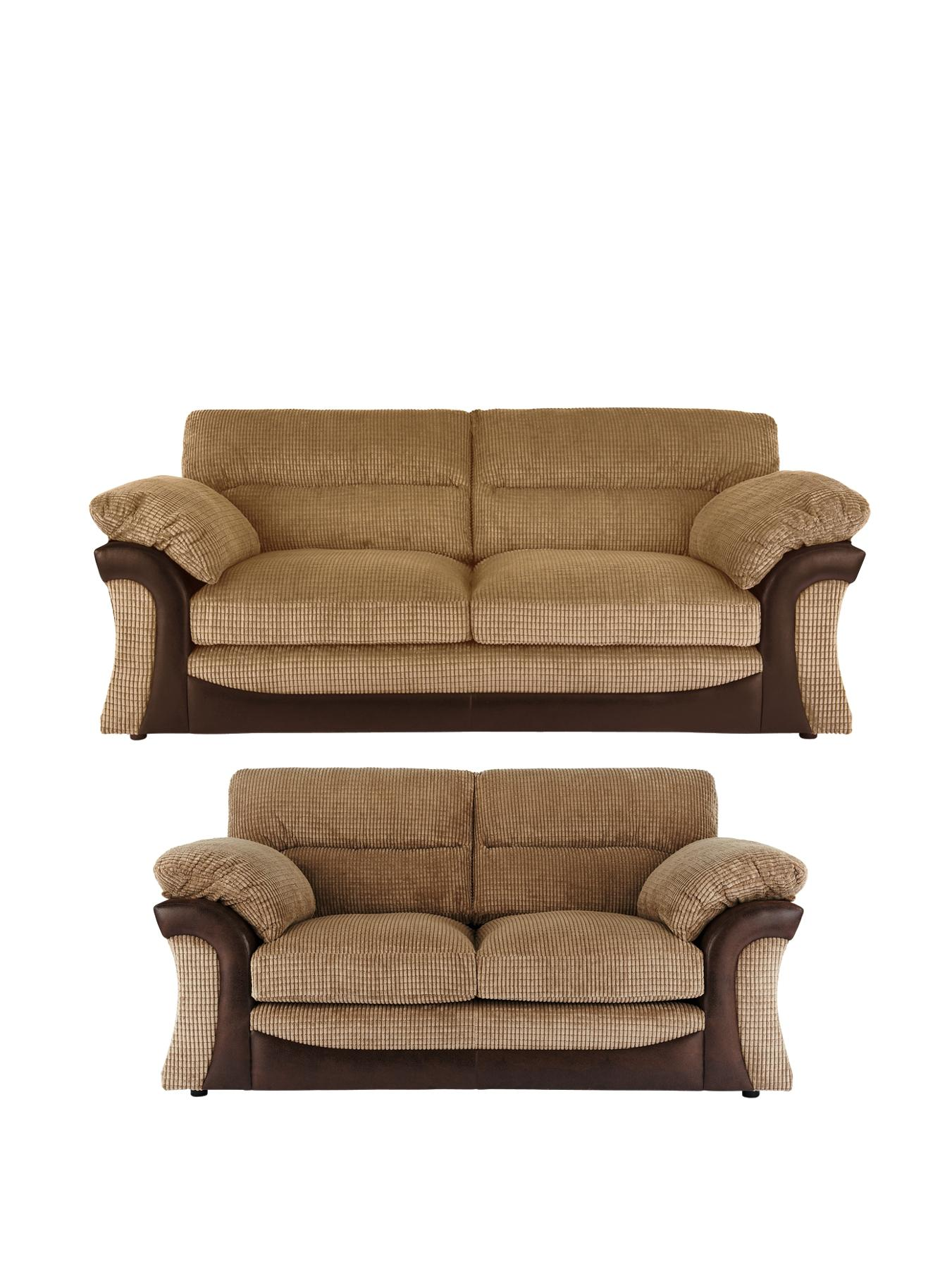Rapide 3-Seater + 2-Seater Sofa Set, Chocolate,Charcoal