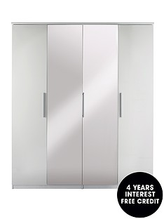 prague-high-gloss-4-door-mirrored-wardrobe