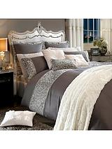 Animale Sequin Duvet Cover - Silver/Grey