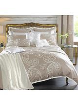 Duchess Heart Sequin Embroidered Duvet Cover Set - Champagne