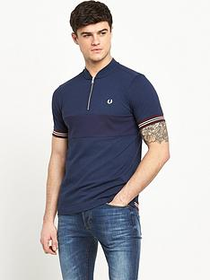 fred-perry-bomber-collar-textured-shirt