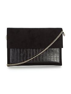 carvela-foldover-clutch-bag-black