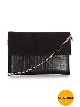carvela-foldover-clutch-bag-black