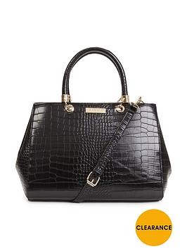 carvela-darla-croc-tote-bag-black