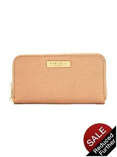 carvela-alis-zip-around-purse-nude