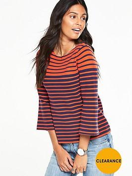v-by-very-stripe-fluted-sleeve-boxy-jumpernbsp
